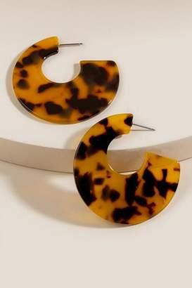 francesca's Sadie Tortoise Resin Earrings - Amber