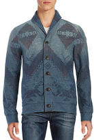 Lucky Brand Novelty Printed Cardigan