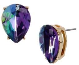 Betsey Johnson Two-Tone Stone Stud Earrings