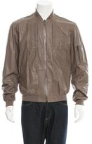 Calvin Klein Collection Leather Bomber Jacket