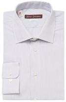 Hickey Freeman Stripe Classic Fit Dress Shirt