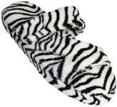 Dawgs Women's Fluffy Memory Foam Spa Bath Z Slippers Leopard