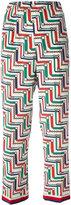 Gucci bridal strap printed pajama trousers - women - Silk/Cotton/Viscose - 42