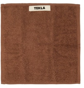 Tekla - Organic-cotton Washcloth - Brown