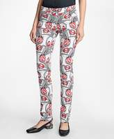 Brooks Brothers Stretch-Cotton Tulip Printed Five-Pocket Pants