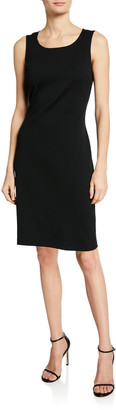 St. John Milano-Knit Scoop-Neck Sheath Dress