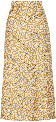 Bec & Bridge Zoe floral-print silk midi skirt