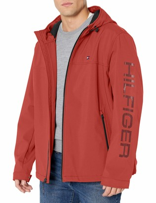 Tommy Hilfiger Men's Soft Shell Performance Hoody Logo Jacket