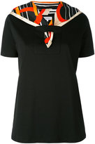 Carven printed silk scarf T-shirt - women - Silk/Cotton - M
