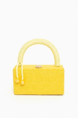 Yellow Top Handle Clutch