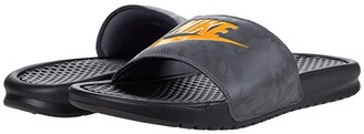 Nike Benassi JDI Slide (Black/Laser Orange/Iron Grey) Men's Slide Shoes