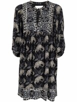 Thumbnail for your product : BA&SH Floral-Print Tie-Front Dress