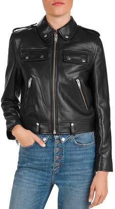 The Kooples Cropped Leather Jacket