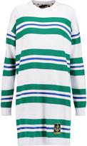 Love Moschino Striped cotton mini dress