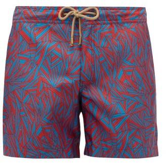 Thorsun Titan Graphic-print Swim Shorts - Mens - Red Multi