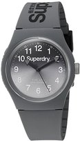 Superdry 'Urban Laser' Quartz Plastic and Silicone Dress Watch, Color:Grey (Model: SYG198EE)