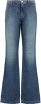 J Brand Glenn mid-rise faded flared jeans