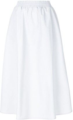Walk of Shame High-Waisted Full Midi Skirt