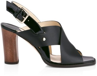 Jimmy Choo Aix Leather Slingback Sandals