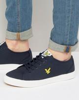 Lyle & Scott Canvas Sneaker in Navy