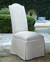 Horchow Outdoor Skirted Camelback Chair, Monogrammed