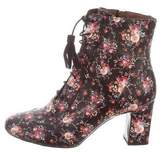 Tabitha Simmons Floral Print Ankle Boots