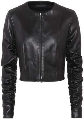 The Row Razna leather jacket