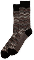 Missoni Zigzag Knit Crew Socks