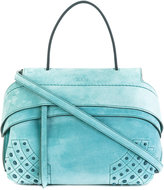 Tod's fold-over closure tote - women - Suede - One Size