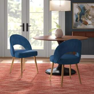 Modern Rustic Interiors Greta Retro Upholstered Dining Chair Modern Rustic Interiors Color: Slate Blue