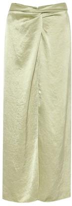 Nanushka Samara hammered-satin skirt