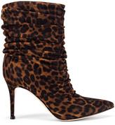 Gianvito Rossi Cecile Camoscio Leopard Heel Booties in Texas Leopard | FWRD