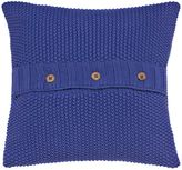 Joules Moss stitch cushion 40x40cm deep blue