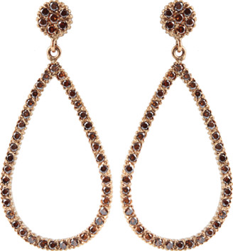 Yossi Harari Lilah Brown-Diamond Drop Earrings