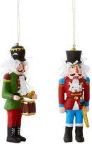 One Kings Lane S/2 Nutcrackers Ornaments, Red/Multi