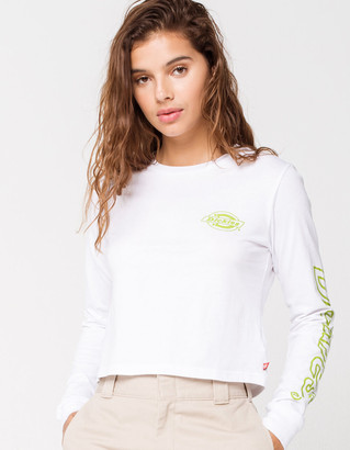 Dickies Neon Logo Womens Crop Tee
