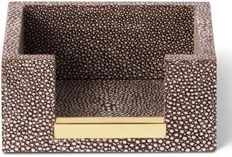 AERIN Shagreen Memo Paper Holder - Chocolate