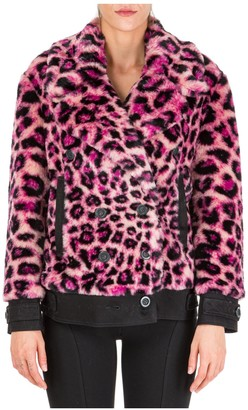 Alberta Ferretti Animal Print Faux Fur Jacket