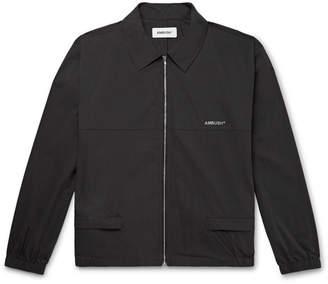 Ambush Logo-Print Cotton-Blend Jacket