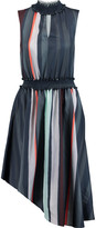 Raoul Sarila smocked striped satin dress