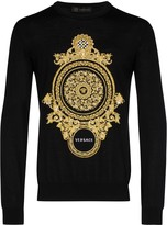 Versace embroidered baroque sweatshirt