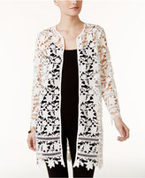 Alfani Lace Open-Front Jacket, Only at Macy's