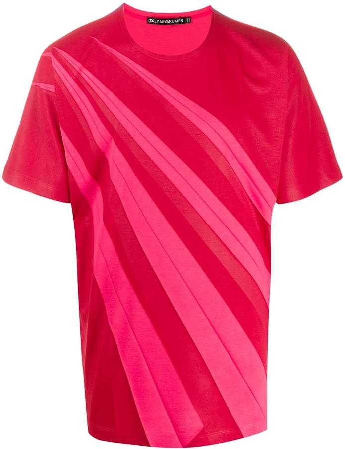 Issey Miyake two-tone T-shirt