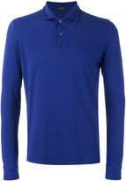 Zanone long sleeve polo shirt - men - Cotton - S