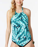 Magicsuit Nicole Printed Nicole High-Neck Underwire Halter Tankini Top