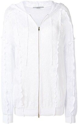Stella McCartney Lace Zip-Up Hoodie