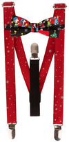 Lord & Taylor BOYS 8-20 Snowflake Suspenders and Caroling Peanuts Bow Tie Set