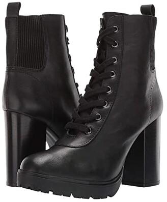 Steve Madden Latch Combat Boot (Black Leather) Women's Boots
