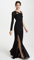Roberto Cavalli One Shoulder Maxi Gown