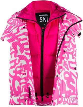 DSQUARED2 DSQ2 graffiti print vest